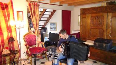 """Régis Huiban (Enregistrement des albums """"La Barque ailée et l'Albatros"""")"""