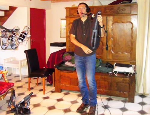 """Erwan Le Gallic, Cornemuse écossaise(Enregistrement des albums """"La Barque ailée et l'Albatros"""")"""