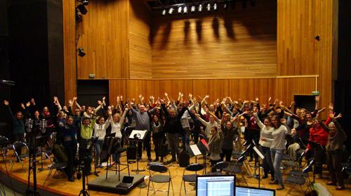 """Chœur du Conservatoire de Brest (Enregistrement des albums """"La Barque ailée et l'Albatros"""")"""